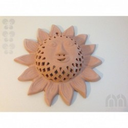 Wall lamp with sun face
